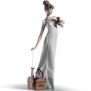 Lladro Porcelain Traveling Companions Woman Figurine 01006753