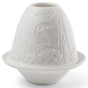 Lladro Porcelain Toucans Lithophane With Plate 01017307