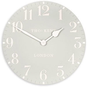 Thomas Kent Arabic Wall Dove Grey Colour Clock CK20156 (51 CM)