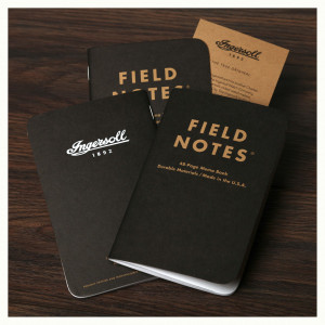 Ingersoll Field Notes Notepad Pack of 3