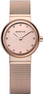 Bering Rose Gold Mesh Ladies Watch 10122-366