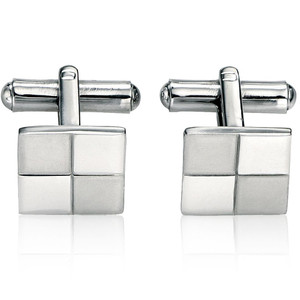 Fred Bennett Men's Stainless-Steel Brushed & Polished Square Cufflinks V319