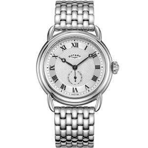 Rotary Men's Canterbury Quartz Silver Dial Stainless-Steel Bracelet Watch GB05335/21