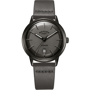 Rotary Men's Avenger Quartz Grey Dial Leather Strap Watch GS05345/20