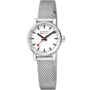Mondaine Evo2 Petite Ladies Sapphire Crystal Mesh Bracelet Watch MSE.26110.SM