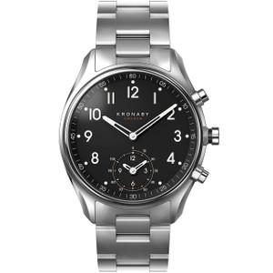 Kronaby Apex Bluetooth Steptracker Travel Stainless-Steel Bracelet Hybrid Smartwatch A1000-1426