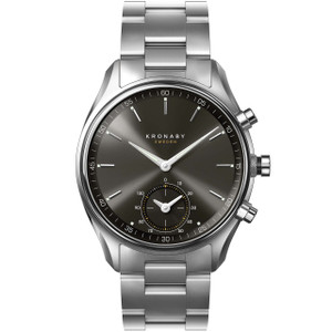 Kronaby Sekel Bluetooth Steptracker Travel Silver Bracelet Hybrid Smartwatch A1000-0720