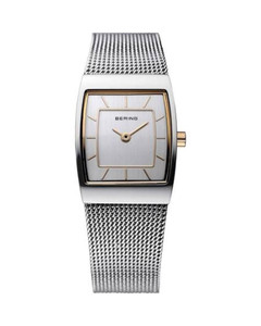 Bering Silver Rectangle Mesh Ladies Watch 11219-000