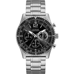 Guess Men's Launch Chronograph Black Dial Stainless-Steel Bracelet Watch W1106G1