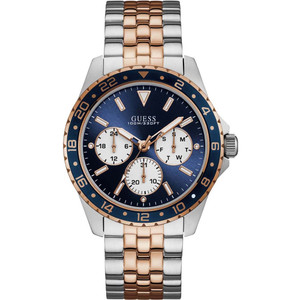 Guess Men's Odyssey Blue Dial Two-Tone Bracelet Watch W1107G3