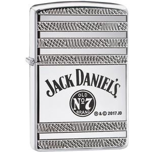 Zippo Armor Jack Daniel's Geo High Polished Chrome Windproof Lighter 29526