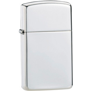 Zippo Slim High Polished Sterling Silver Windproof Lighter 1500