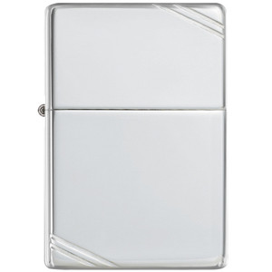 Zippo Vintage High Polished Sterling Silver Windproof Lighter 14