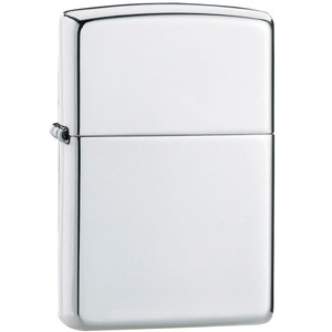 Zippo Plain High Polished Sterling Silver Windproof Lighter 15