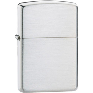 Zippo Armor Plain Brushed Sterling Silver Windproof Lighter 27
