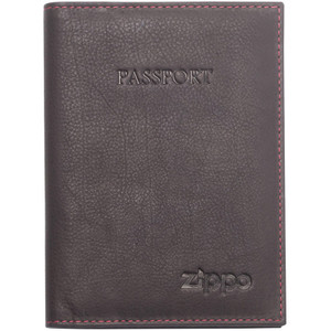 Zippo Mocha Leather Passport Holder 2005418