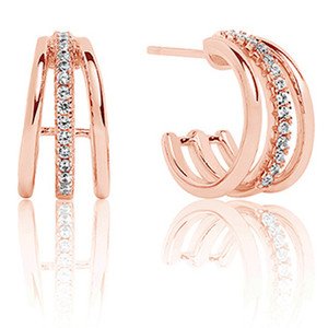 Sif Jakobs Ozieri Piccolo 18k Rose Gold Plated Cubic Zirconia Earrings SJ-E0300-CZ(RG)