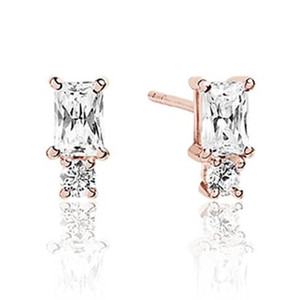 Sif Jakobs Antella Piccolo 18k Rose Gold Plated Cubic Zirconia Double Stud Earrings SJ-E1299-CZ(RG)