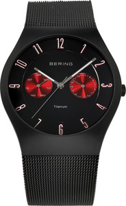 Bering Black Titainium Mesh Mens Watch 11939-229