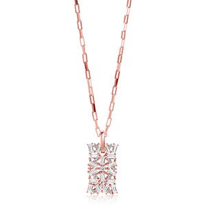 Sif Jakobs Antella 18k Rose Gold Plated Cubic Zirconia Necklace SJ-P0058-CZ(RG)