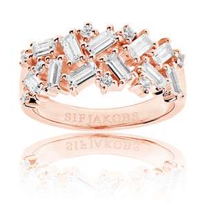 Sif Jakobs Antella 18k Rose Gold Plated Cubic Zirconia Ring SJ-R0463-CZ(RG)