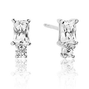 Sif Jakobs Antella Piccolo Silver Cubic Zirconia Double Stud Earrings SJ-E1299-CZ
