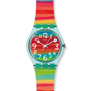 Swatch Color the Sky Multi-colour Ladies Watch GS124