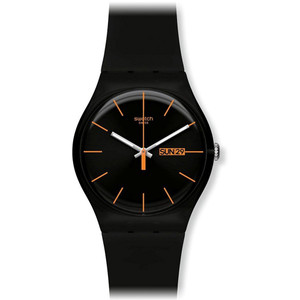 Swatch New Gent Collection Dark Rebel Day Date Watch SUOB704