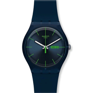 Swatch New Gent Collection Blue Rebel Day Date Watch SUON700