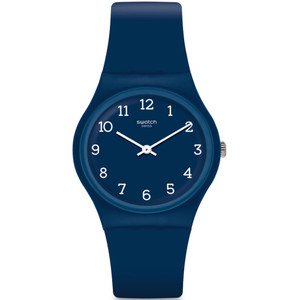 Swatch Blueway Unisex Quartz Blue Dial Silicone Strap Watch GN252
