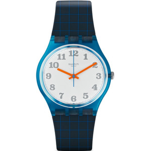Swatch Back To School Unisex Quartz White Dial Silicone Strap Watch GS149