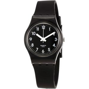 Swatch Lady Black Single Women's Quartz Black Dial Silicone Strap Watch LB170E