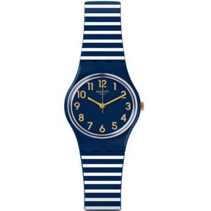 Swatch Ora D'Aria Women's Quartz Blue Dial Silicone Strap Watch LN153