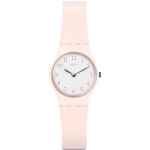 Swatch Pinkbelle Women's Quartz White Dial Silicone Strap Watch LP150