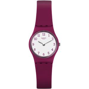Swatch Redbelle Women's Quartz White Dial Silicone Strap Watch LR130