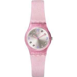 Swatch Rose Glistar Women's Silver Dial Silicone Strap Watch LP132C