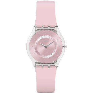 Swatch Skin Classic Pink Pastel Women's Pink Dial Silicone Strap Watch SFE111