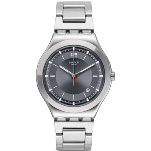 Swatch Irony Big Classic Flattering Men's Date Grey Dial Bracelet Watch YWS425G