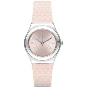 Swatch Irony Medium Coco Ho Women's Quartz Pink Dial Silicone Strap Watch YLZ101