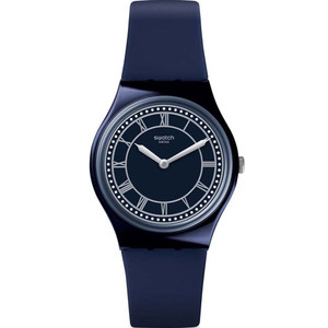 Swatch Brit-In Blue Ben Unisex Quartz Blue Dial Silicone Strap Watch GN254