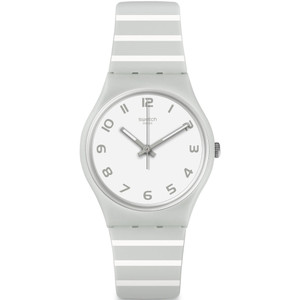 Swatch Mediterranean Views Grayure Unisex Quartz White Dial Silicone Strap Watch GM190