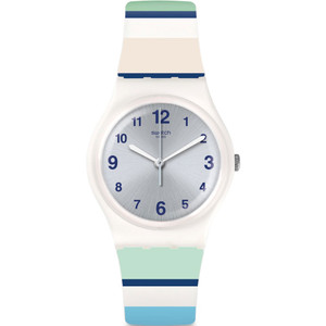 Swatch Mediterranean Views Marinai Unisex Quartz Silver Dial Silicone Strap Watch GW189
