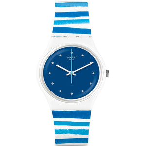 Swatch Mediterranean Views Sea View Unisex Quartz Blue Dial Silicone Strap Watch GW193