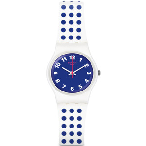 Swatch Vibe Bluedots Women's Quartz Blue Dial Silicone Strap Watch LW159