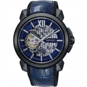 Seiko Premier Novak Djokovic Limited Edition Automatic Skeleton Blue Watch