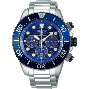 Seiko Prospex Men's Save The Ocean Solar Chronograph Diver's Stainless-Steel Bracelet Watch SSC675P1