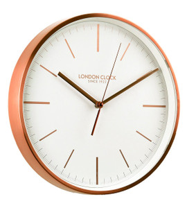 London Clock Since 1922 Brushed Copper Metal Case Wall Clock 1102