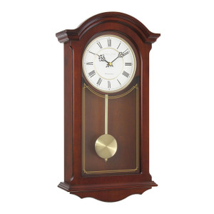 London Clock Traditional Mahogany Wood Finish Pendulum Wall Clock 25118