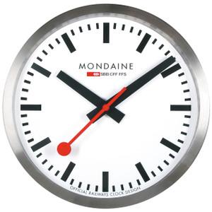 Mondaine Smart Stop2Go White Dial Official Swiss Railways Wall Clock MSM.25S10