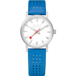 Mondaine Women's Classic White Dial Blue Leather Strap 30mm Swiss Railways Watch A658.30323.16SBD